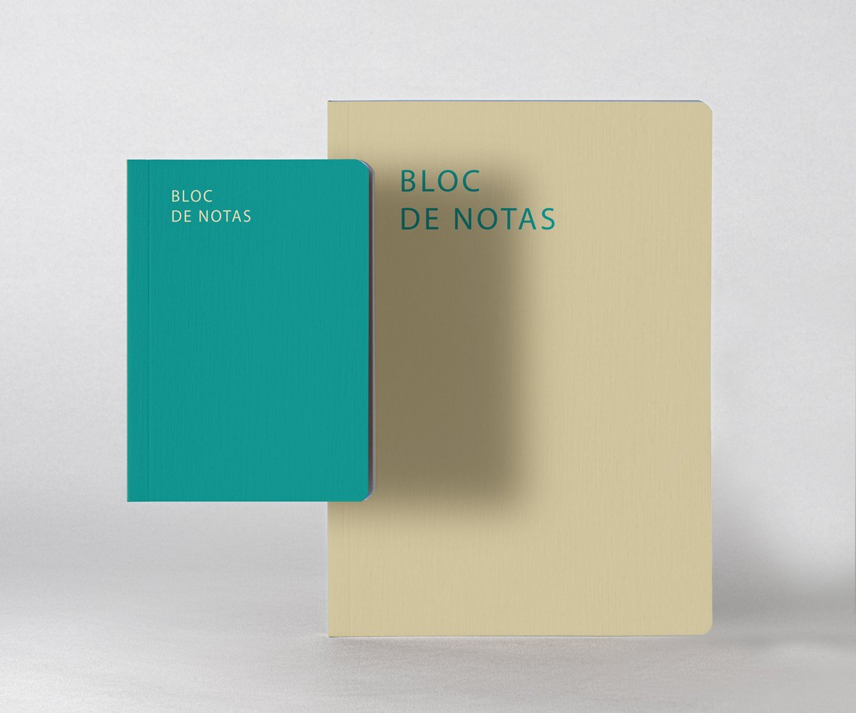 impresión de bloc de notas